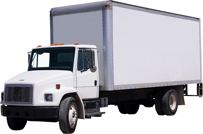 Delivery truck isolated on white background clipping paths included - Delivery Truck Submited Images